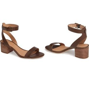 Madewell Alice Embossed Ankle Wrap Sandal Python